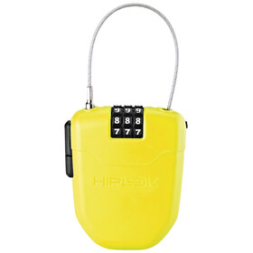 Hiplok FX Bike Lock with reflector yellow